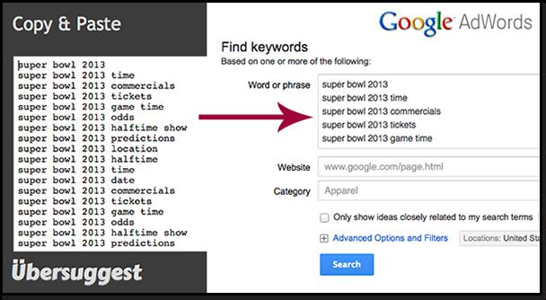 Ubersuggest và Google Keyword Tool
