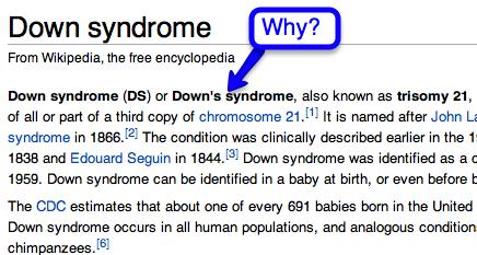 wikipedia down's