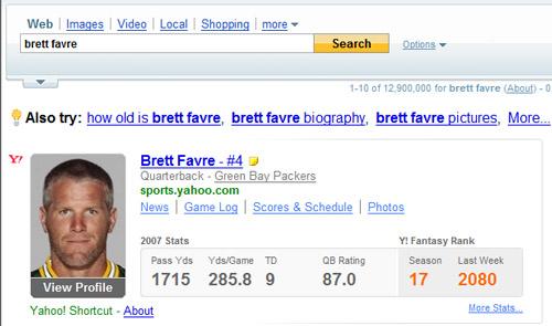 Yahoo! Search Results for Brett Favre