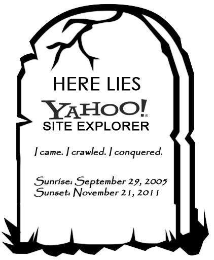 Yahoo Site Explorer Rest in Pixels