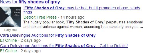 inside in depth articles dissecting google s latest feature moz for example a search for the popular novel 50 shades of grey showed standard news results