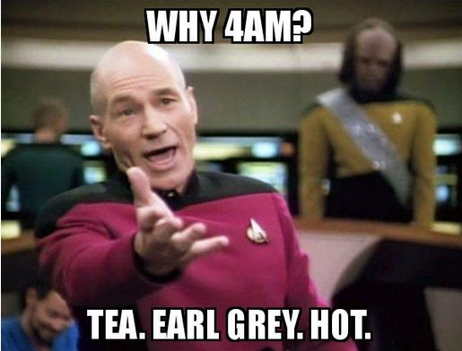 Captain Picard also hates mornings