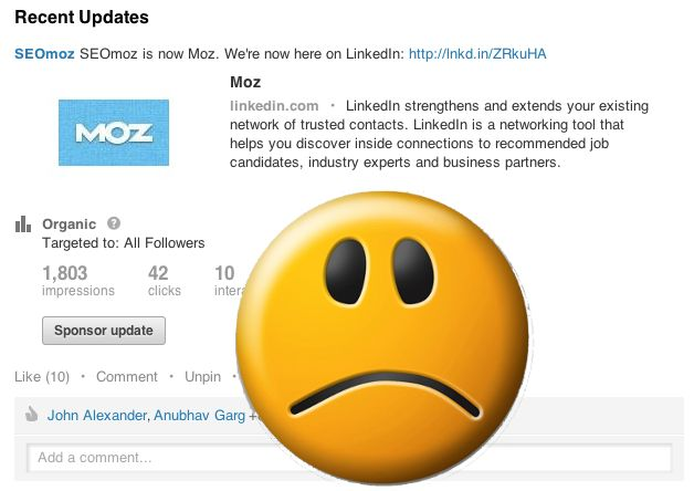 No way to rename company pages on linkedin