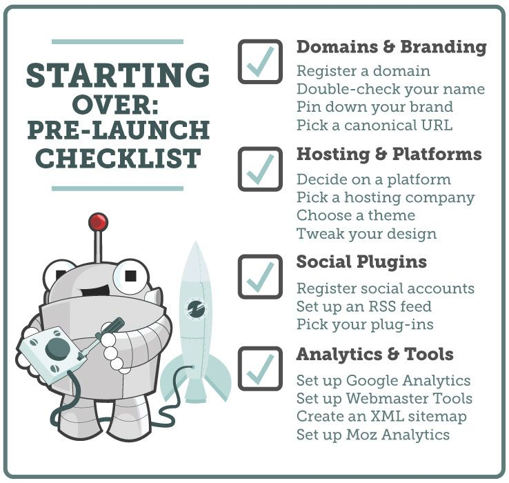 Starting Over, Part 1: A Pre-Launch Checklist - Moz