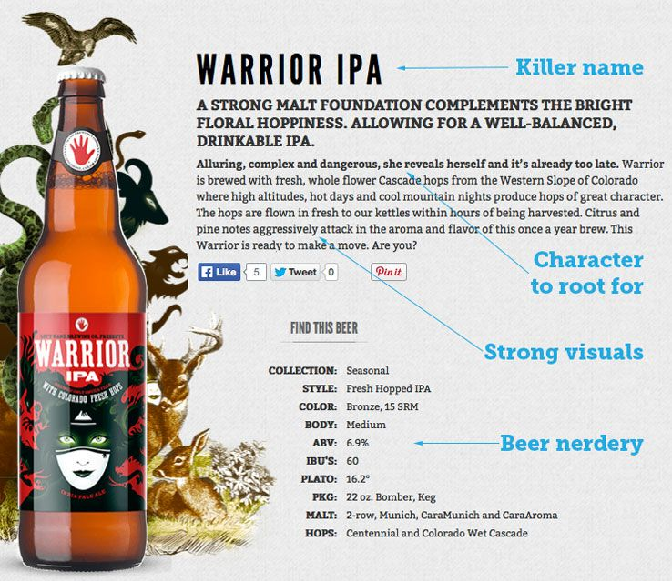 warrior ipa product description