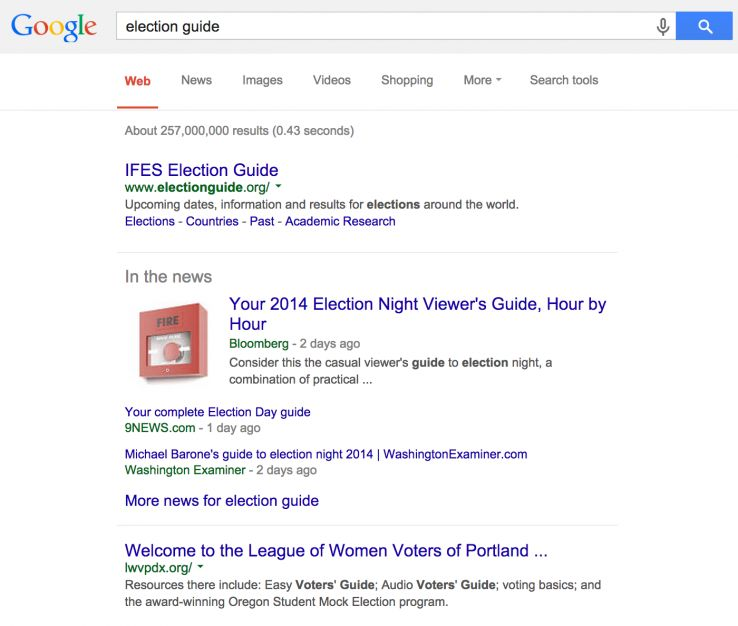 local search results election guide
