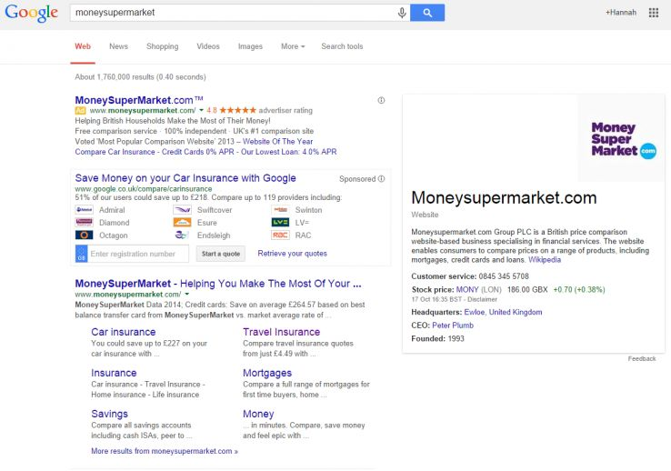 Social Signals and the SERPS 5