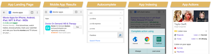 Mobile apps in search results