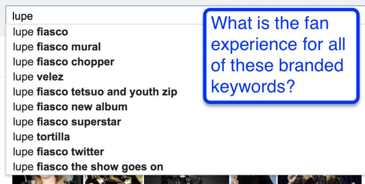 google autosuggest band search terms