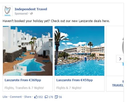 Independent Travel Multi Product Ad