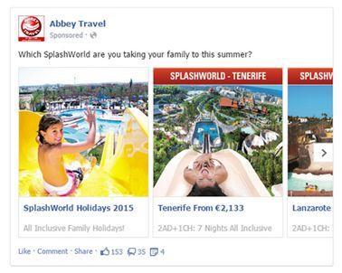 Abbey Travel SplashWorld Facebook MPA