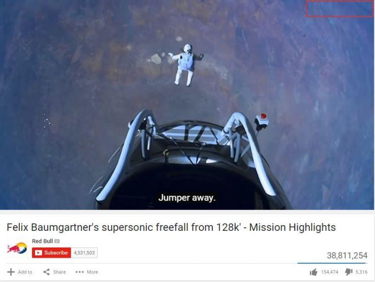 Felix Baumgartner's jump from space