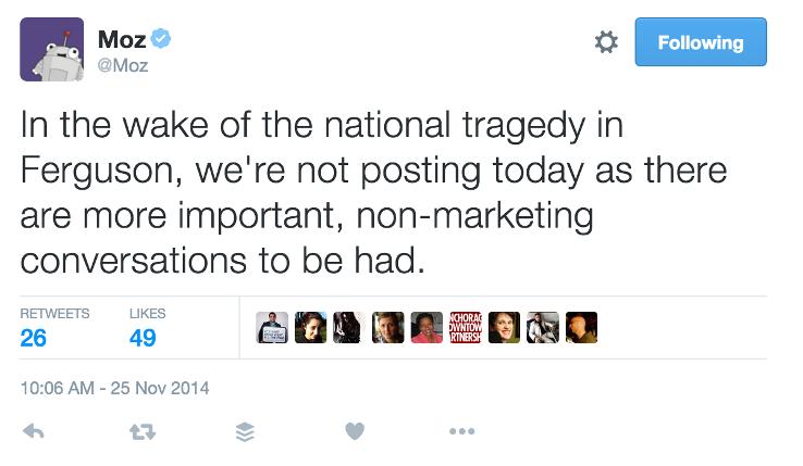 Moz'un Ferguson empati tweet'i