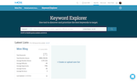 Keyword Explorer - free keyword research tool