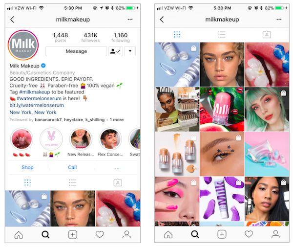 screen shot 2018 04 15 at 9 406250 - Cách sử dụng Instagram như một thương hiệu làm đẹp
