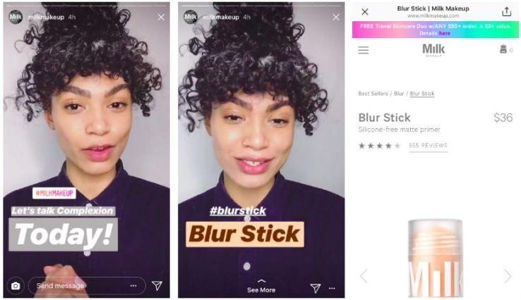 screen shot 2018 04 15 at 9 437615 - Cách sử dụng Instagram như một thương hiệu làm đẹp