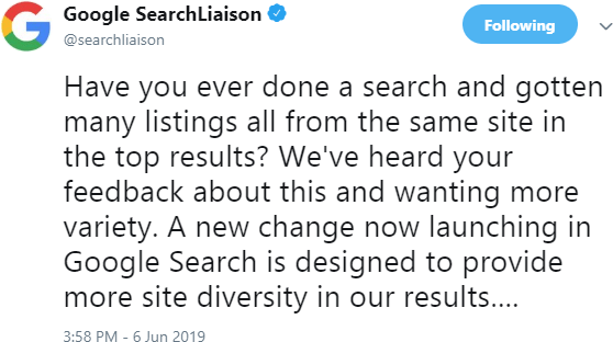 Did Google's Site Diversity Update Live Up to its Promise? - Moz