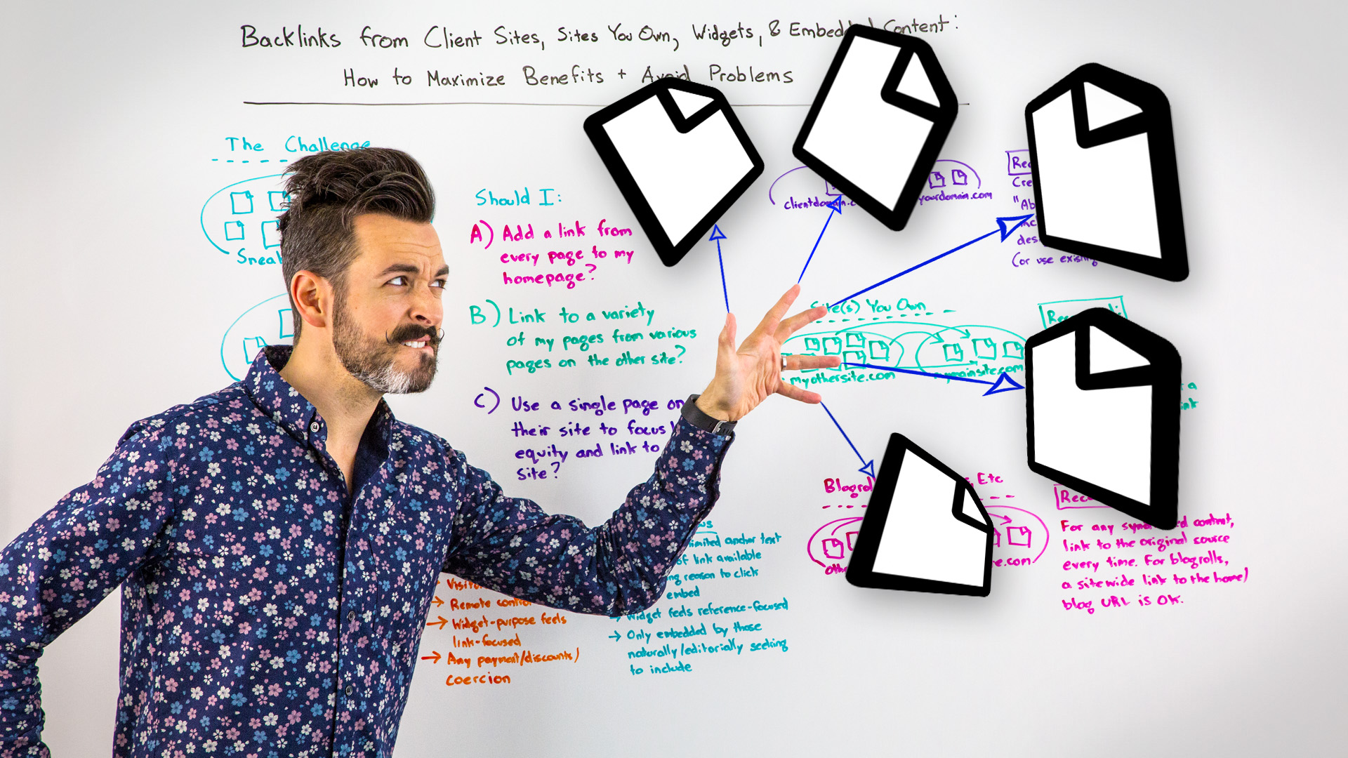 Backlinks From Client Sites, Sites You Own, Widgets