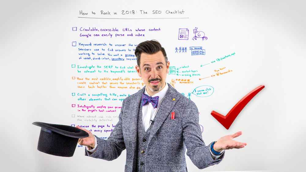 How to Rank in 2018: The SEO Checklist – Whiteboard Friday – Moz